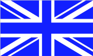 Great Britain Royal Blue / White Union Jack Large Country Flag - 5' x 3'.